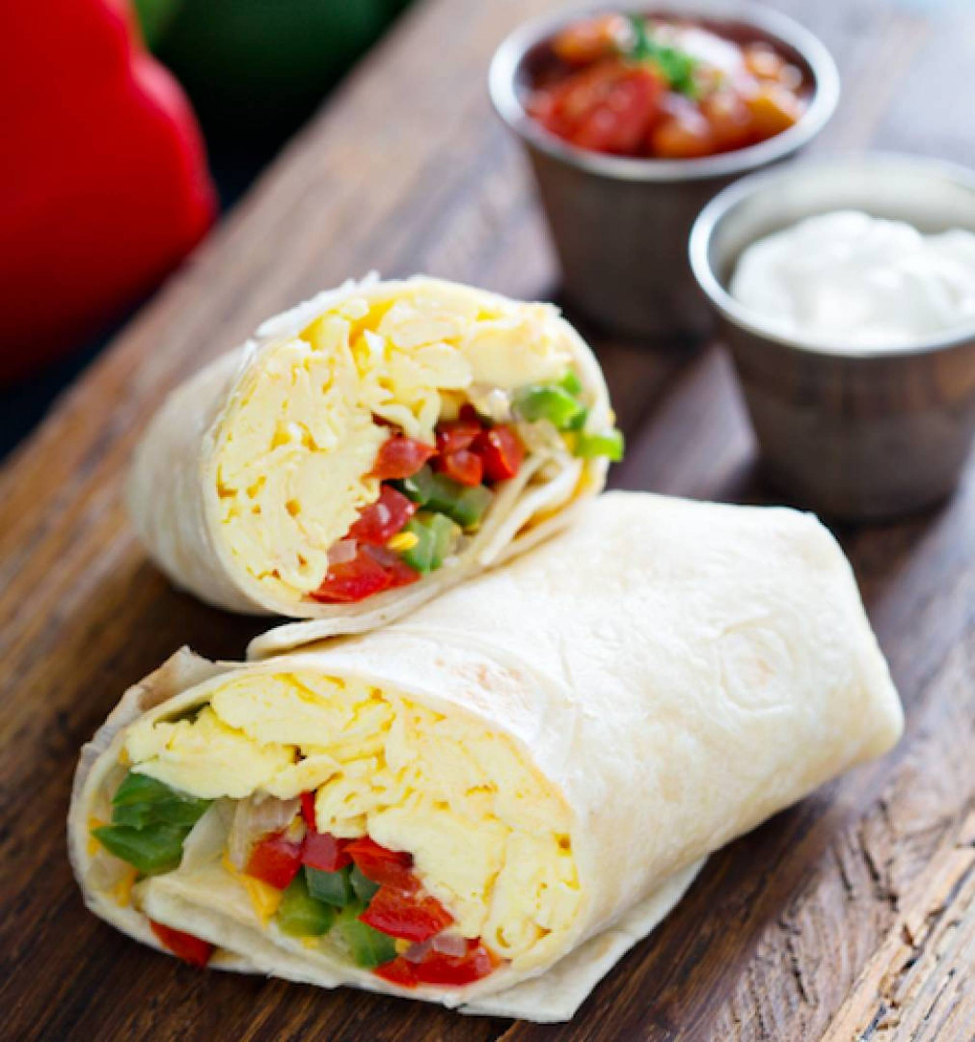 Loaded Veggie Breakfast Wrap